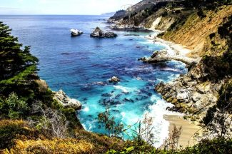 the rugged coastline of monterey california usa