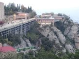 a view over montserrat and funicular