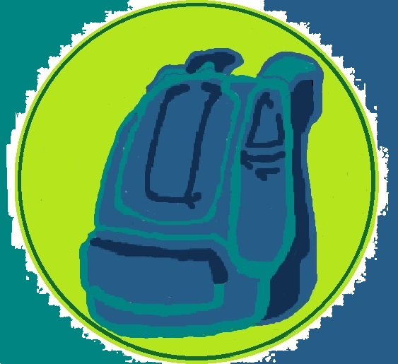 the rucksack news header logo with coloured back ground and no writing