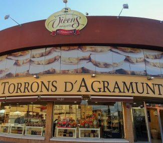 vicens torrons d agramunt shop and visitor centre front lleida catalonia spain
