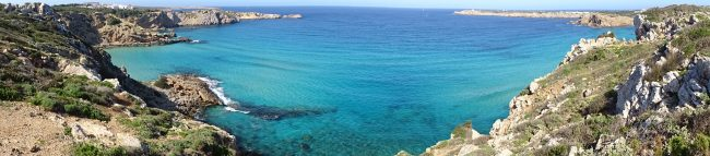 view from the cliffs of menorca