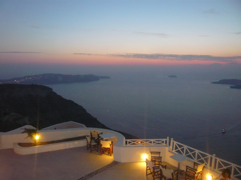 dusk santorini greece