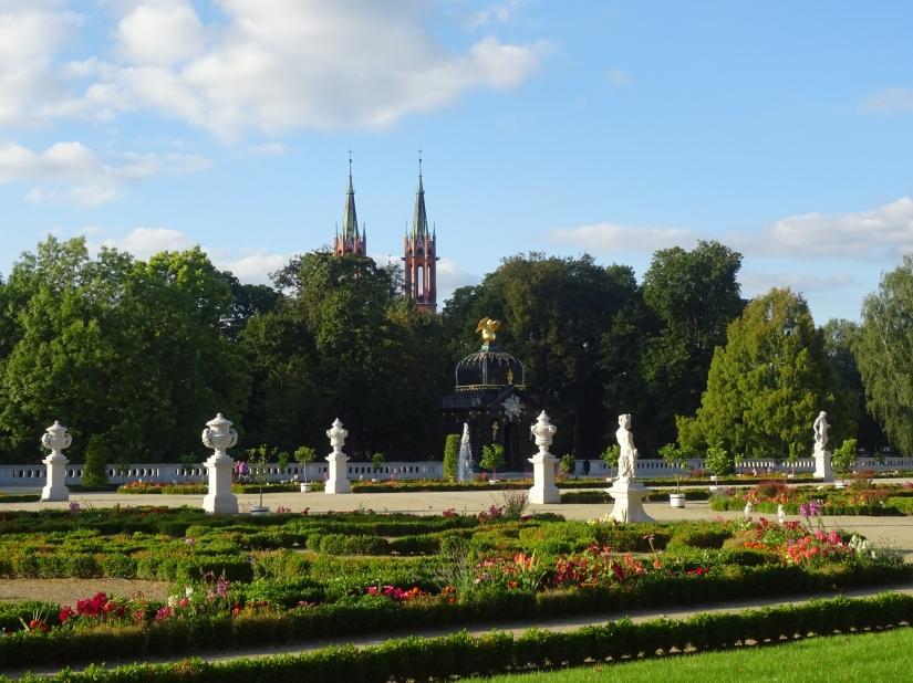 branicki palace gardens bialystok poland