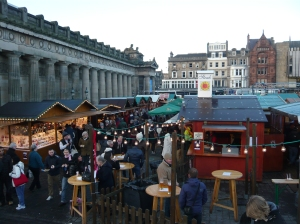 food and drink stalls at edinburgh christmas market