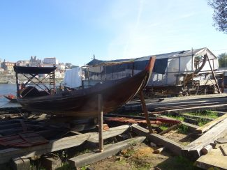 boatyard on the riverside in portugals porto