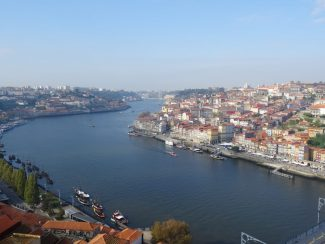 a view over portos river douro in portugal