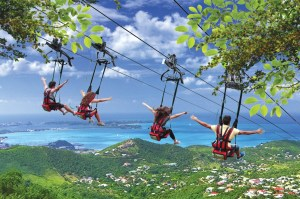 the flying dutchman zip line at st maarten