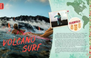 alisons adventures book volcano surf page