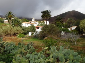 the dark clouds over betancuria on fuerteventura