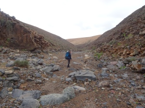 hiking through the canyons of fuerteventura