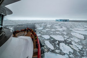 hurtigruten expedition cruise ship travels antarctica