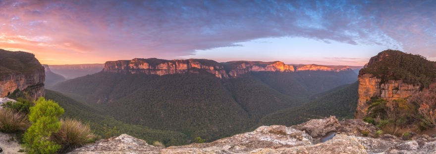 blue mountains in new south wales australia