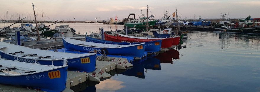 boats at the port of cambrils on the costa dorada
