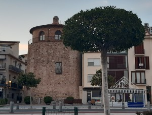watch tower at cambrils on the coast of catalonia in spain
