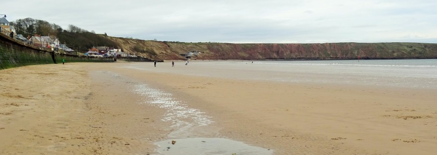 the beach at filey in yorkshire