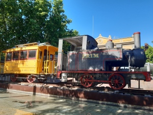 historical train and station of salou