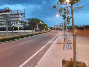 empty main road into salou
