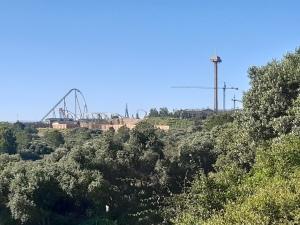 view of port aventura theme park from parc torre d en dolca