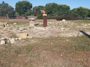 a section of the roman villa ruins in salou
