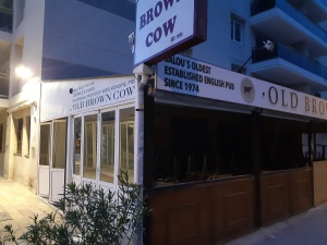 the brown cow pub in salou
