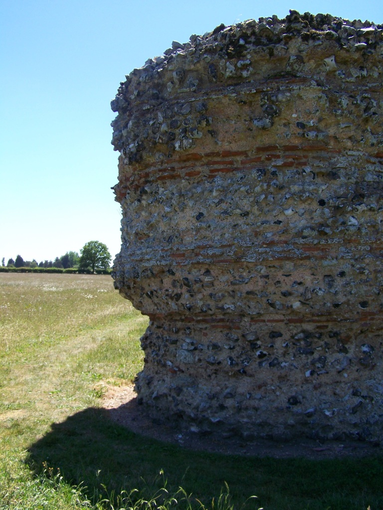 burgh castle walls in great yarmouth