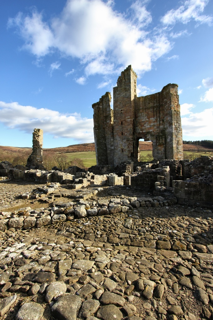 edlingham manor house ruins in northumberlands alnwick