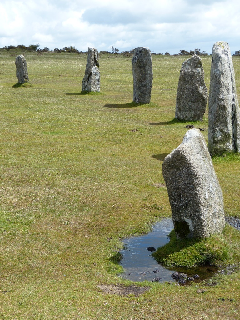stones of one of the hurlers stone circles in cornwall