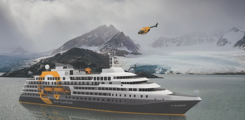 at sea and helicopter experiences with quark expeditions