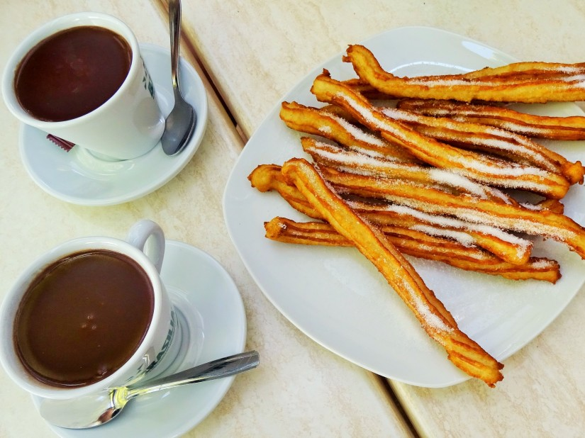 spanish churros and chocolate
