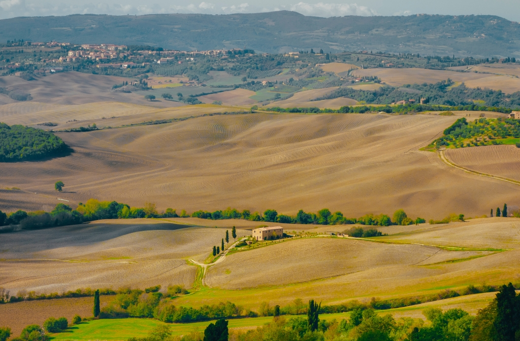 a tuscan view in italy